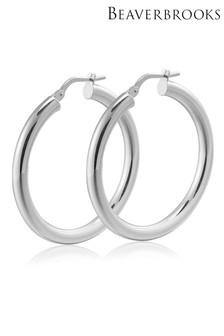 Beaverbrooks Silver Hoop Earrings
