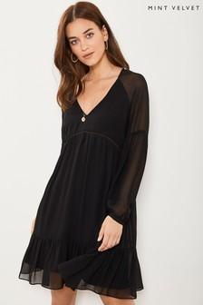 Mint Velvet Long Sleeve Smock Dress