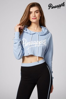 Pineapple Retro Crop Hoody