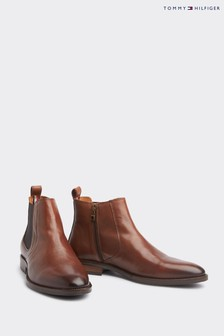Tommy Hilfiger Brown Essential Leather Chelsea Boots