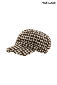 Monsoon Multi Bay Baker Boy Check Hat