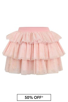Girls Gold Tulle Skirt