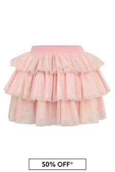 Girls Gold Tulle Skirt
