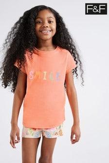F&F Orange Fruit Pyjamas Two Pack