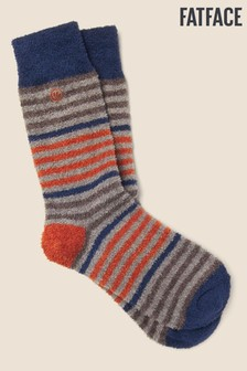 FatFace Grey Stripe Mallory Socks