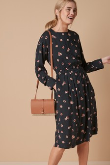 Printed Mid Length Dress