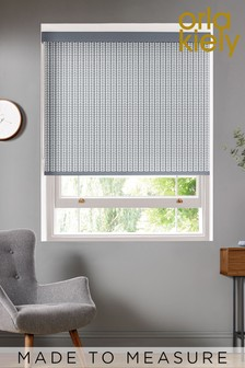 Tiny Stem Cool Grey Made To Measure Roller Blind by Orla Kiely