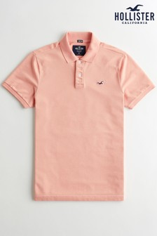 Hollister Pink Heritage Polo