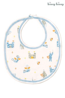 Kissy Kissy White Dragon Castle Bib