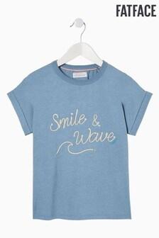 FatFace Blue Smile Wave Graphic T-Shirt