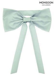 Monsoon Green Bridesmaid Duchess Twill Bow and Sash