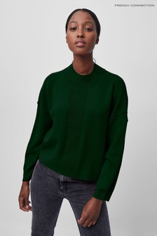 French Connection Green Baby Soft Mock Neck Jumper