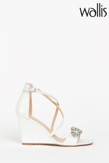 Wallis Sienna White Jewell Striped Wedge