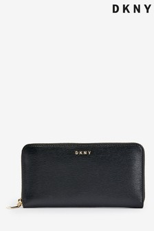 DKNY Black Bryant Park Zip Around Purse