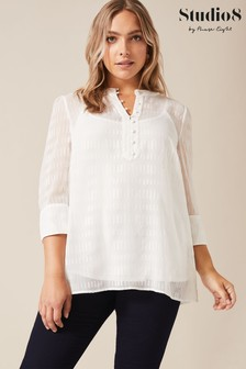 Studio 8 Cream Hannah Textured Top