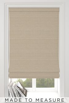 Jasper Oyster Natural Made To Measure Roman Blind