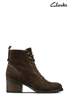 Clarks Brown Thornby Lace Boots