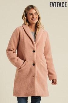 FatFace Pink Caroline Teddy Coat