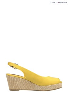 Tommy Hilfiger Yellow Elba Slingback Mid Wedges