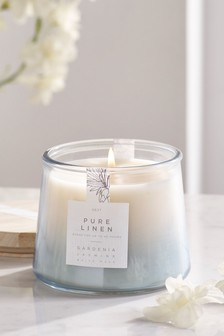 Linen Lidded Jar Candle