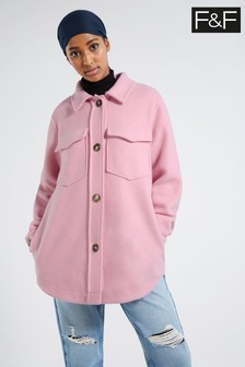 F&F Pink Textured Shacket