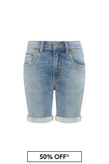 Timberland Blue Cotton Shorts