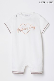 River Island Ecru 1st Mother's Day Romper