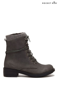 Rocket Dog Grey Tayte Lace-Up Boots