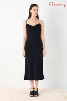 Finery London Black Amela Cami Slip Dress