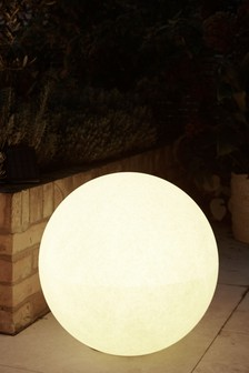 Concrete Effect Solar Sphere