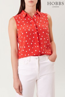 Hobbs Red Amora Top