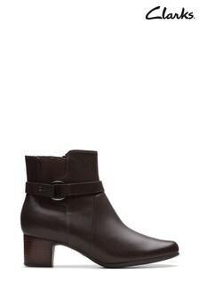 Clarks Brown Un Damson Mid Boots