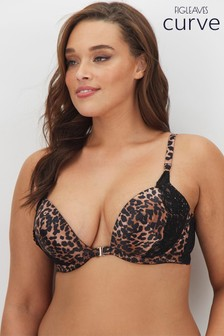 Figleaves Curve Madame Animal Print Front Fastener Bra