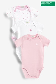 Benetton Pink Bodysuits Three Pack