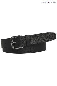 Tommy Hilfiger Black Downtown Leather Belt