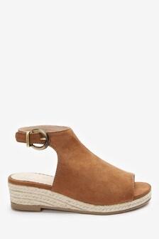 Peep Toe Wedge Sandals