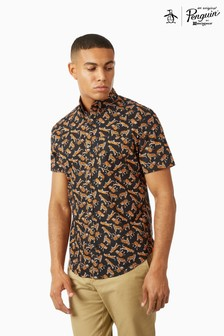Original Penguin® Short Sleeve Tiger Print Shirt