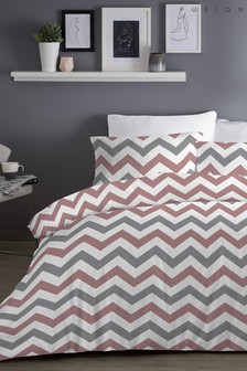 Fusion Exclusive To Next Chevron Duvet Cover and Pillowcase Set