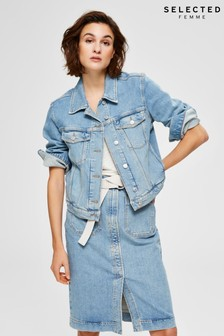 Selected Femme Light Wash Denim Jacket