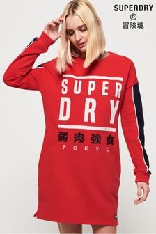 Superdry Panel Graphic Sweat Dress