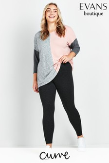 Evans Curve Grey Marl Leggings