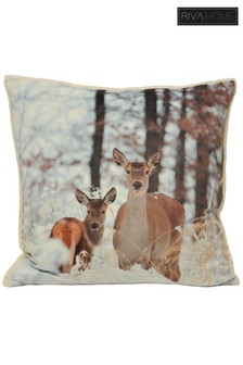 Riva Home Mother And Baby Deer Cushion