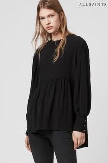 AllSaints Black Fayre Blouse
