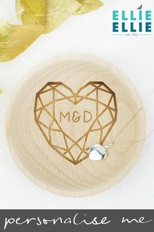 Personalised Wedding Couples Ring Dish by Ellie Ellie