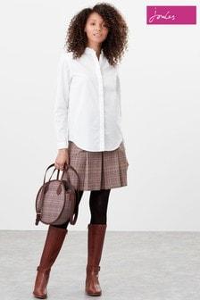 Joules Pink Haddie Check Tweed Skirt