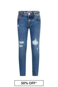 Jacob Cohen Boys Blue Cotton Jeans