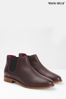 White Stuff Red Emma Chelsea Boots
