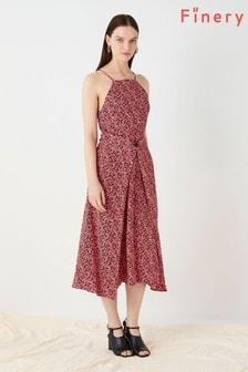 Finery London Pink Orchard Button Front Freya Dress