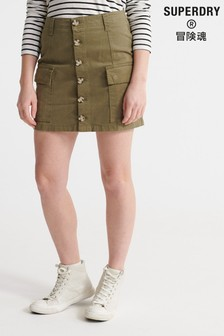 Superdry Olive Mini Skirt