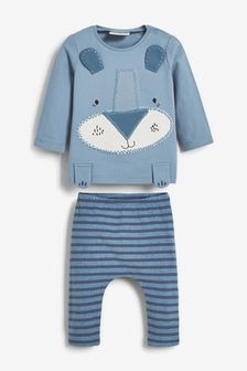 Animal Appliqué Stretch T-Shirt And Leggings Set (0mths-3yrs)